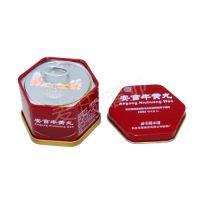 安宫牛黄丸包装盒 六角罐 小铁盒 高端牛黄丸铁盒 铁盒生产厂家