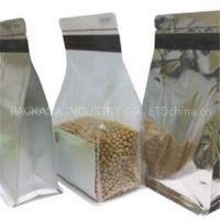 Plastic Zipper Quad Seal Handle Food Bags