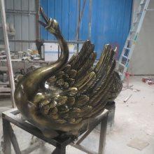 树脂鹤雕塑 仿铜玻璃钢丹顶鹤 售楼处景观铜仙鹤雕塑摆件