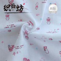 纯棉双层小象印花婴儿纱布口水巾 半漂白吸水吸汗方巾批发