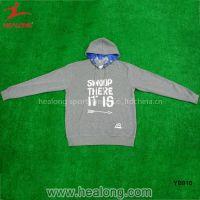 Any logo Grey Color Custom Silk Print Youth Hoodie