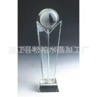 供应专业生产 水晶拇指奖杯 水晶球系列奖杯