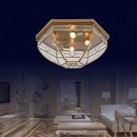 餐厅吸顶灯 9月全铜玻璃灯饰厂家直销 欧式灯具 X0044 餐厅吸顶灯