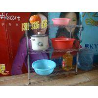 微波炉架子金属置物架厨房层架不锈钢置物架调料碗蔬菜收纳架