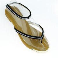 Princess凉鞋女水钻2015外贸新款金属包边时尚套脚休闲平底单鞋女