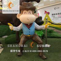 上海升美猴子模型 专业卡通模型定制 玻璃钢雕塑