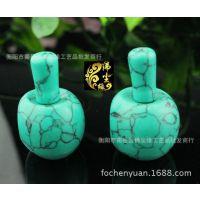 厂家供应优化 绿松石藏式三通 佛头佛塔 DIY手工配件 佛珠配件