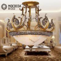 欧式创意雕花吸顶灯阳台客厅艺术灯具单头小卧室餐厅吸顶6088