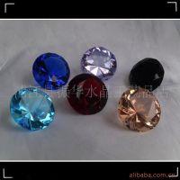 浦江水晶钻石厂家直销K9机磨彩色水晶钻石 32面钻 各种装潢材料