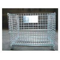 宁波天盾厂家直销折叠式仓储笼镀锌蝴蝶笼重型料箱大量现货可定制
