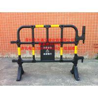 互通黄黑塑料护栏价格、工地施工塑料围栏规格、深圳隔离移动护栏厂家