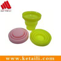 科泰利可折叠硅胶杯碗具 硅胶旅行生活用品