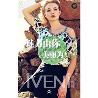 依维妮16年夏装女装品牌折扣店货源时尚靓丽品牌折扣女装走份