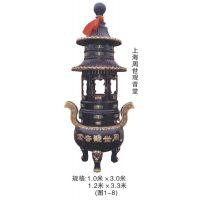 瑞盛工艺供应仿古五层宝鼎,故宫宝鼎,铜铁七宝鼎等佛教,道教用品。