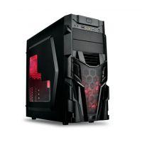 凤凰城 幻影 电源上置侧透全新钢黑化ATX游戏USB3.0电脑机箱空箱