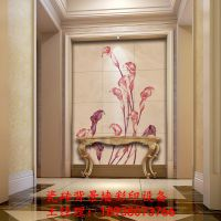 玻璃中堂画UV彩印机|瓷砖背景墙浮雕印刷设备|玻璃万能打印机厂家