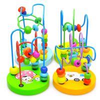 厂家直销儿童木质益智早教玩具 迷你小绕珠积木木制玩具批发