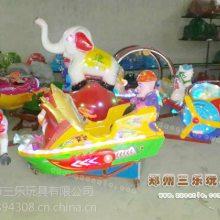 熊出海旋转机械类玩具 广场幼儿园儿童音乐旋转玩具