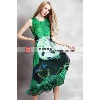 新款欧美连衣裙批发,欧美女装批发,高品质真丝连衣裙!