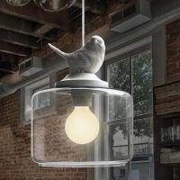 可爱小鸟单头吊灯 美式乡村田园餐厅吧台过道灯具 儿童房间灯饰