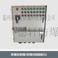 供应温州防爆控制箱、铁箱8回路磁力、安全德轩防爆控制箱、防爆非标箱