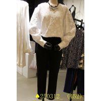 2015春装新款韩国代购东大门女装正品女式圆领蕾丝花朵T桖打底衫