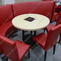 精品热卖 火锅桌子价格 铁艺喇叭脚火锅桌 简约餐厅蒸汽火锅餐台