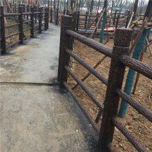 四川仿木栏杆厂家生产水泥仿木栏杆 混凝土仿木栏杆H110×L150