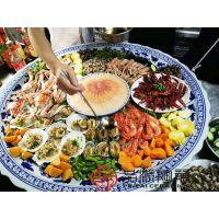 找生产青花瓷特大号装菜专用大盘子、一米直径装菜大碟子