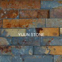 依君天然石材 复古青杂锈色15*60cm 古典装饰性室内外墙文化石材