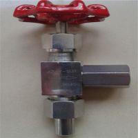 外螺纹角式针型阀J24W-25P 江苏不锈钢角式高压角式截止阀