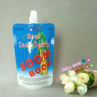 食品级200ml甘蔗果酒吸嘴自立袋厂家 批发订做小容量蓝莓 /杨梅/白酒包装袋