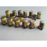 高压400V贴片铝电解电容器10UF 400V 10X12黄宝石电容价格6000H