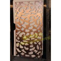 无指纹拉丝精品办公隔断红古铜不锈钢屏风不锈钢镂空雕花