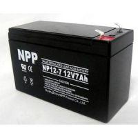 耐普蓄电池12V12AH NPP蓄电池NP7-12 铅酸免维护蓄电池厂家
