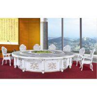中式板式火锅电动餐桌广东酒店电动餐桌多人中式电动旋转餐桌