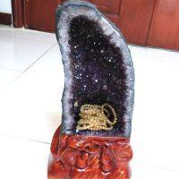 一物一图天然乌拉圭紫晶洞风水摆件紫水晶洞聚宝盆招财镇宅