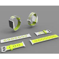 俊奇Jun-Q58 iwatch苹果表带 硅胶双色表带青春时尚 健康舒适 深圳源头厂家