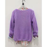2014春季新款韩版女清新文艺穿带子镂空针织打底衫套头毛衣外套