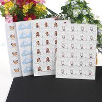 diy相册必备制作配件固定照片相角手工精装卡通动物角贴24枚批发
