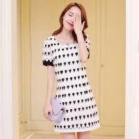 夏季新款雪纺连衣裙 韩版气质甜美碎花时尚百搭裙子 女 一件代发