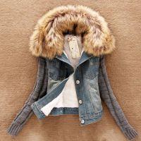 速卖通热卖货源爆款 秋冬季羊羔毛外套韩国代购短款女装牛仔上衣