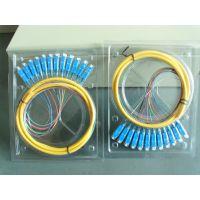 中性电信级SC束状12芯尾纤,一体化熔纤盘束状尾纤
