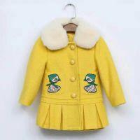 童装女童毛呢子大衣贝儿童中大童风衣外套品牌折扣