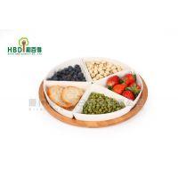 厂家批发 韩式厨房用品 竹配陶瓷组合果盘 C1222