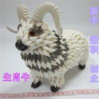 海螺贝壳羊动物摆件 地摊热卖货源批发 12生肖工艺品 手工饰品