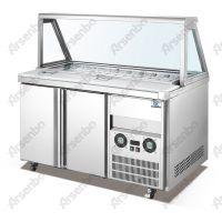 供应满记甜品展示柜/风冷比萨柜/冷藏保鲜操作台/水果沙拉柜