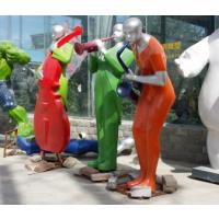 天和雕塑 彩色玻璃钢抽象音乐人物雕塑