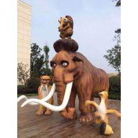 仿真动物雕塑 牛 大象 斑马园林动物景观装饰 玻璃钢仿真大笨象雕塑