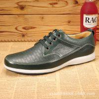 工厂新款真皮手工制作皮鞋 休闲时尚单鞋男鞋 男士真皮男鞋百搭